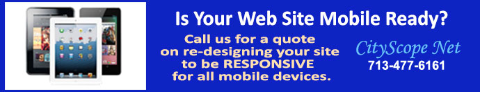 Is your website mobile ready?  Call CityScope Net for a quote.