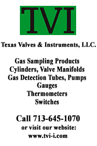 gas sampling products by Texas Valve & Instruments